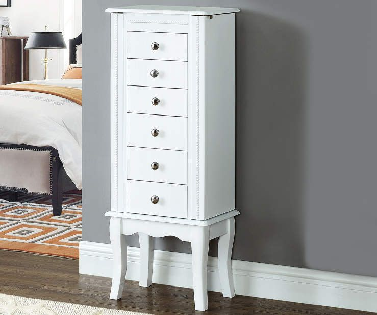 White Jewelry Armoire - Big Lots in 2020 | White jewelry ...