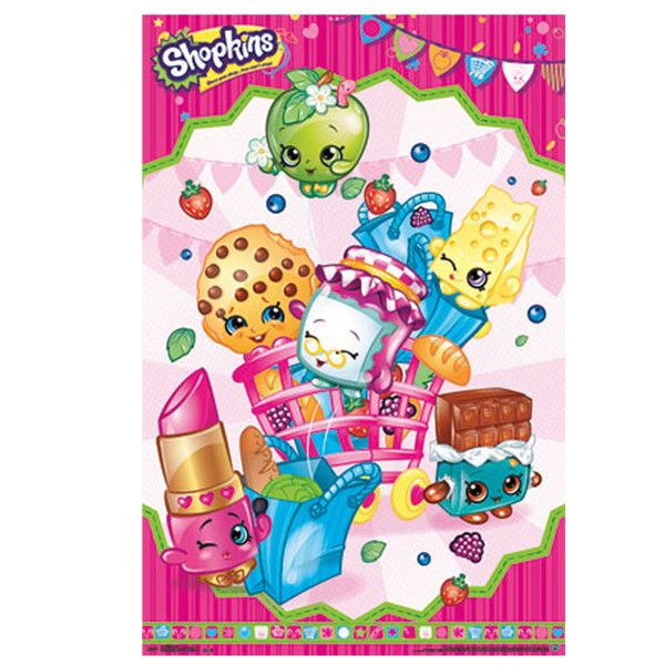 Wall poster shopkins cart shopkins decoration and for Poster decoratif