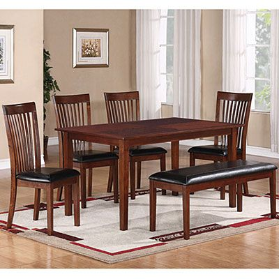 Big Lots Dining Chairs Rattan Garden Chair Covers 6 Piece Set With Slat Back At Hate The Cushions But Love Bench Seat
