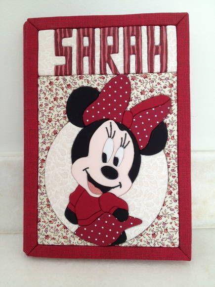 Caderno Personalizado Minnie   Ra & Ro Patchwork   3164AC - Elo7