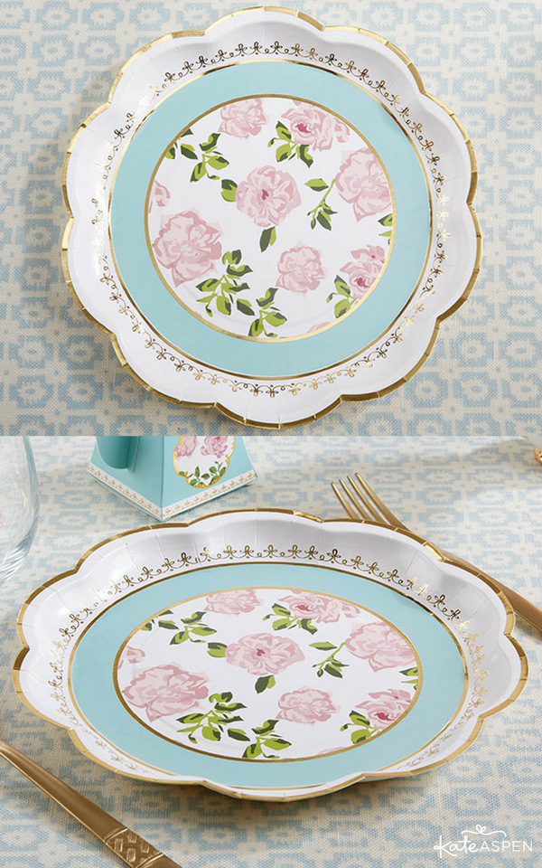 Perfect for everything from tea party birthday parties to high tea bridal showers and luncheons our floral paper plates make your place settings even more ...  sc 1 st  Pinterest & Tea Time Whimsy Paper Plates - Blue   Tea bridal showers Tea party ...