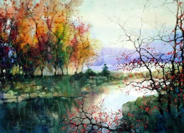 Beautiful Watercolor Landscapes From Artist -ZL.Feng