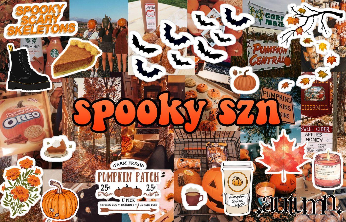 Aesthetic Vsco Y2k Fall Autumn Halloween Thanksgiving Macbook Wallpaper Orange Pumpkin Leav Halloween Desktop Wallpaper Macbook Wallpaper Macbook Air Wallpaper