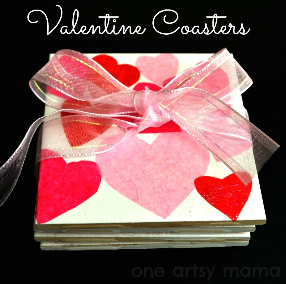 Valentine\'s Day Heart Coasters   Coasters, Craft and Crafty