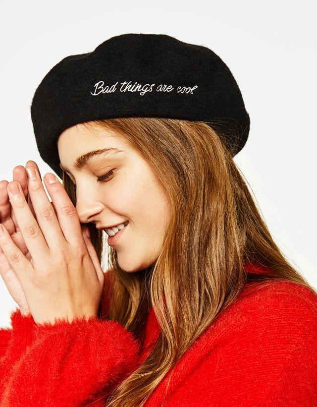 officiel nouvelles variétés vente énorme Bonnets et casquettes - ACCESSOIRES - FEMME - Bershka Maroc ...