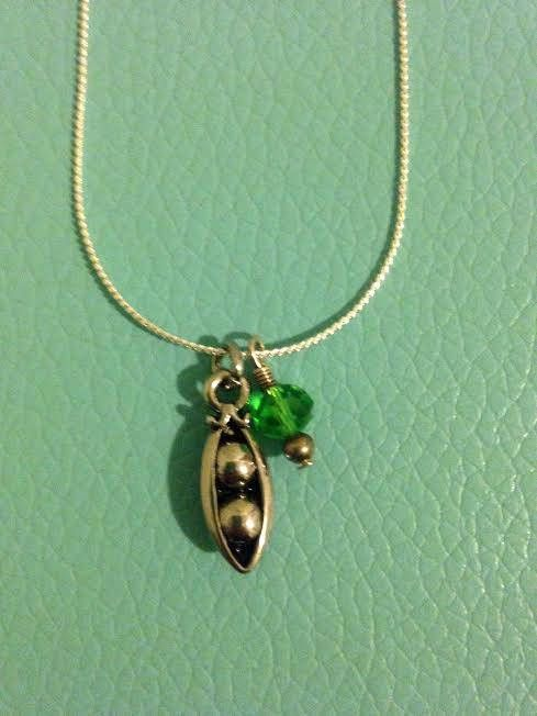 Peas in a Pod Necklace by ThingbyWing on Etsy https://www.etsy.com/listing/530852061/peas-in-a-pod-necklace