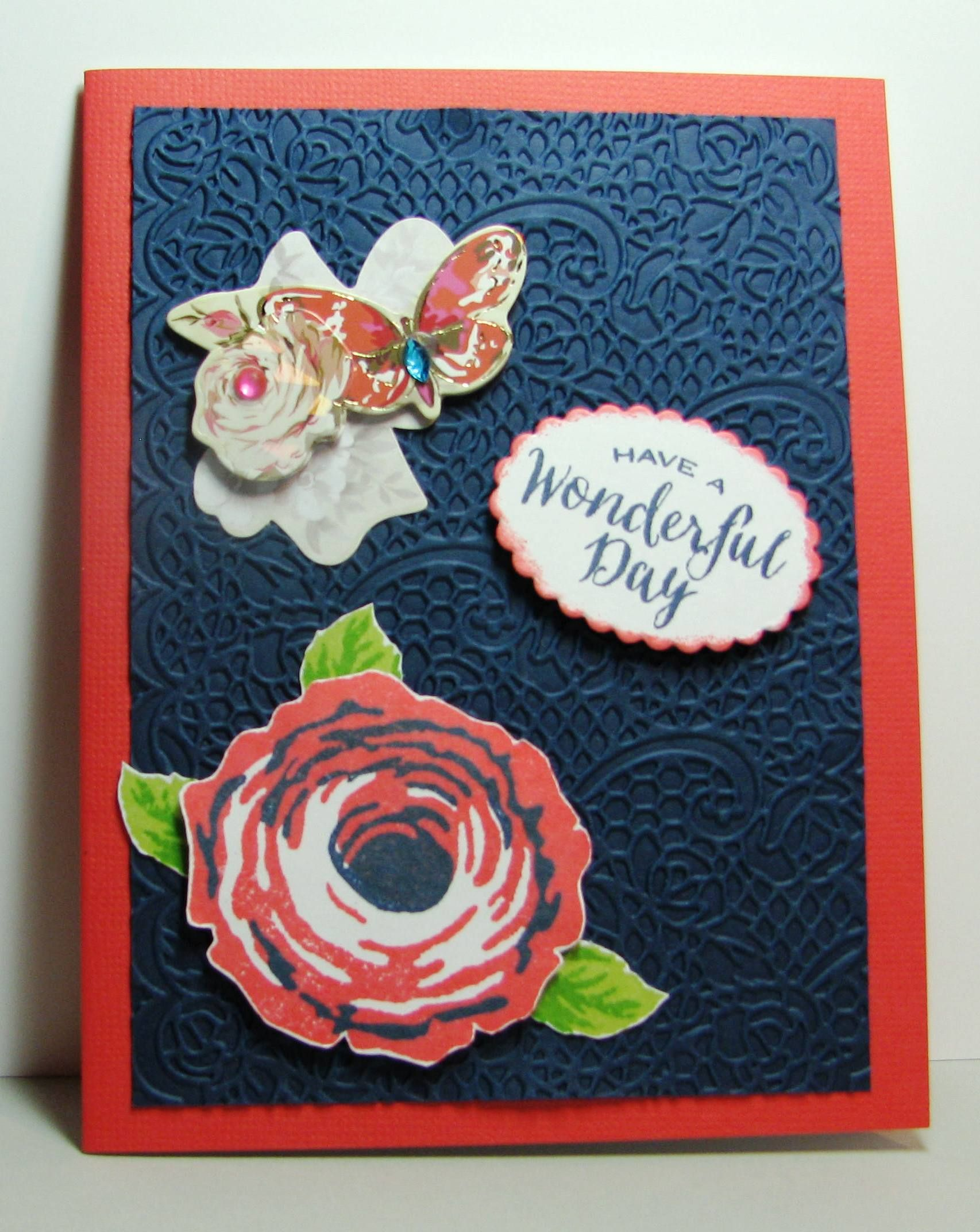 Wonderful day gina k old country roses my handmade greeting cards