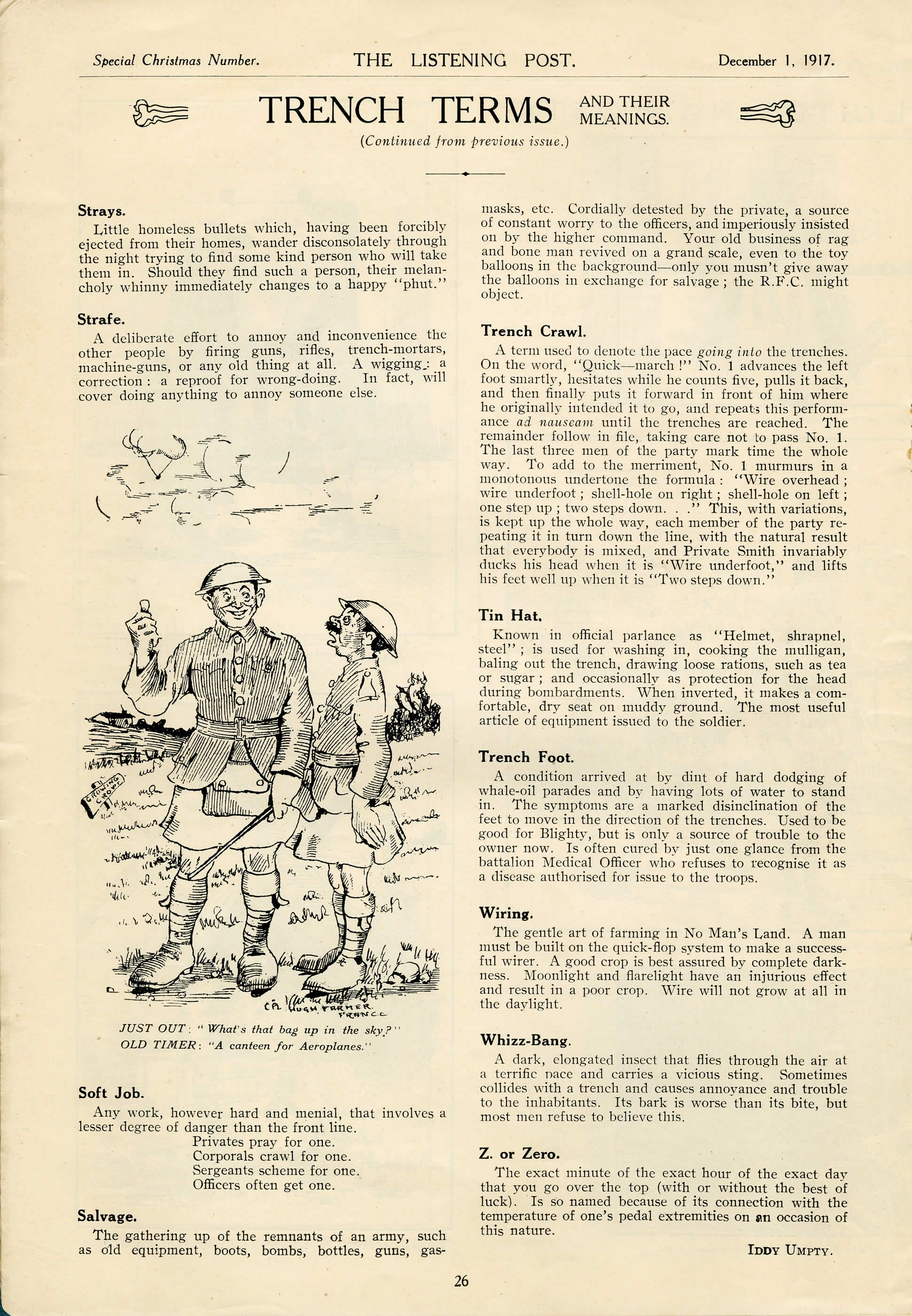 Military Documents - Trench Slang | Canada and the First World War ...