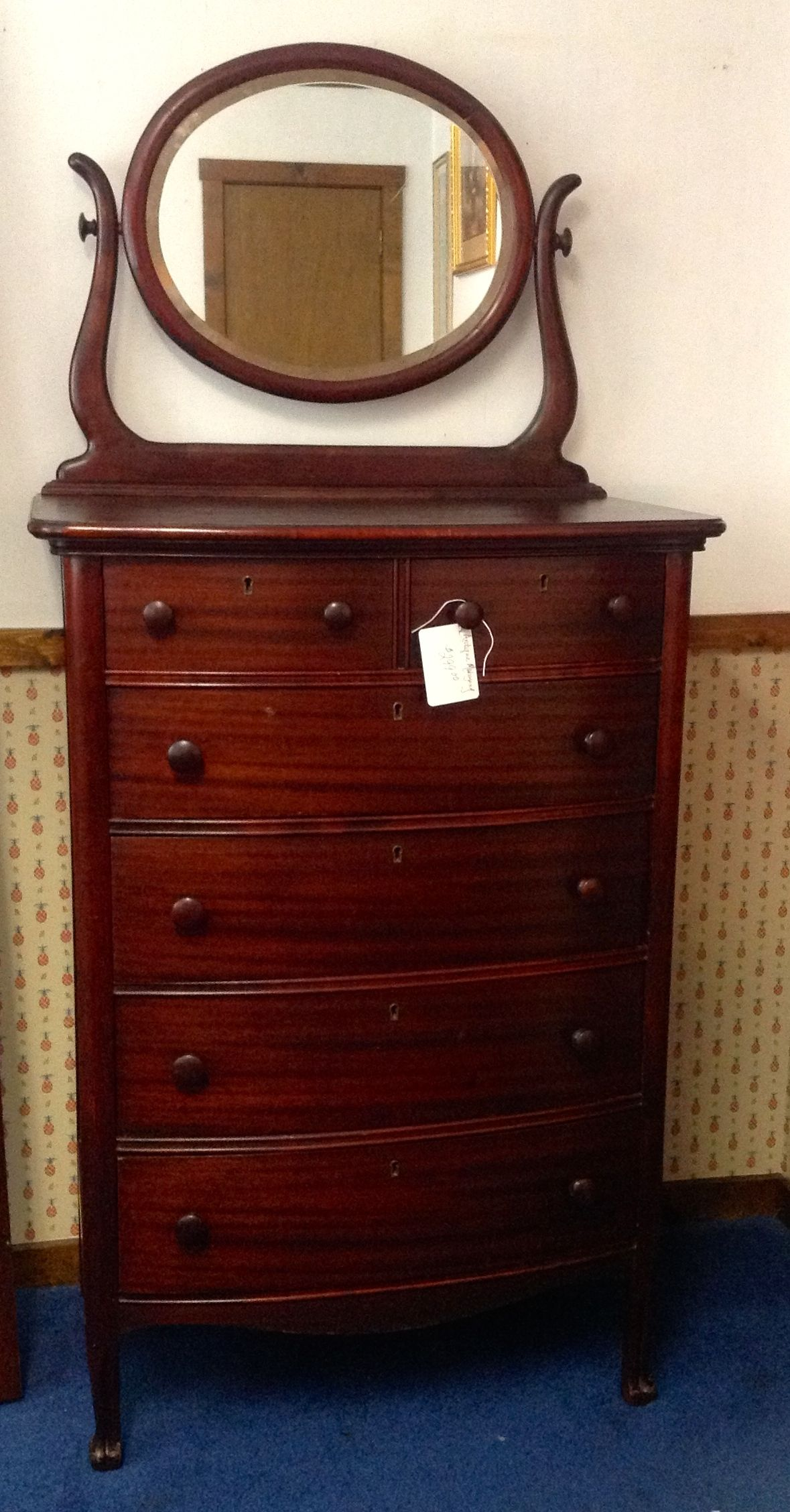 Antique Chest Of Drawers With Mirror A Beautiful Piece From Yesteryear Carolescollections