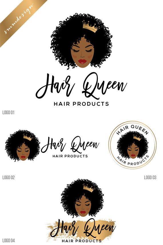 African Woman Afro Woman Hair Curly Hair Hair Stylist Logo Etsy In 2020 Hair Stylist Logo Hair Logo Beauty Salon Logo