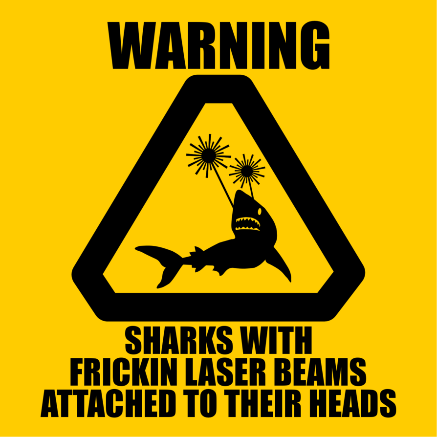 Warning sharks with lasers by aliensquid nerd pinterest shark more warning signs for the future series future warning symbols but no warning sign against sharks with frikk warning sharks with lasers buycottarizona Image collections