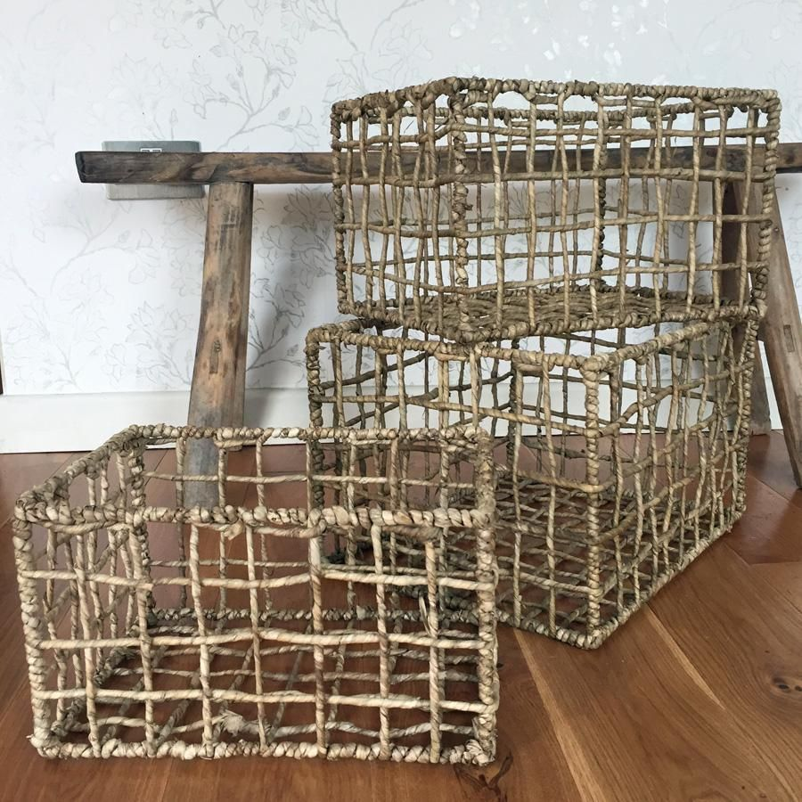 Superbe Rustic Storage Basket Set