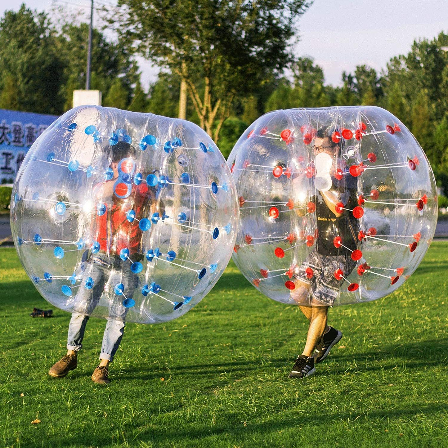 Popsport Inflatable Bumper Ball 1 2m 4ft 1 5m 5ft Diameter Bubble Soccer Ball Blow Up Toy In 5 Min Inflatable Bumper Bubbl Bubble Soccer Inflatable Soccer Ball