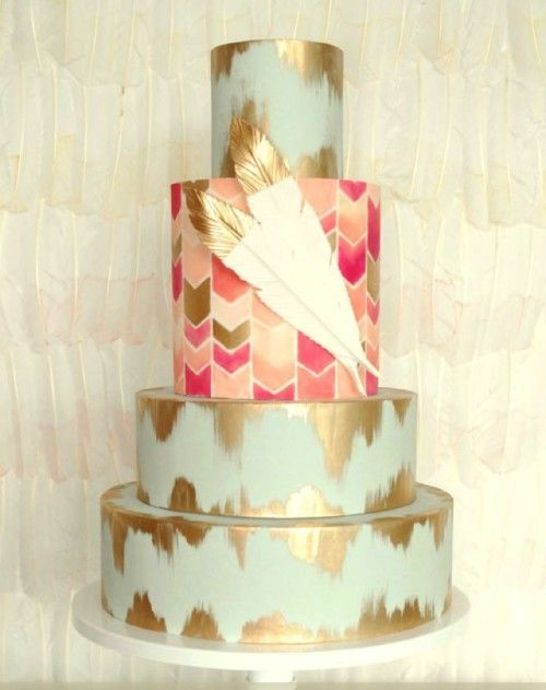 24 Delicious And Beautiful Boho Chic Wedding Cakes Cakes