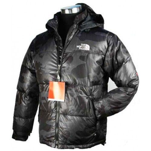 The north face nuptse down mens jacket black