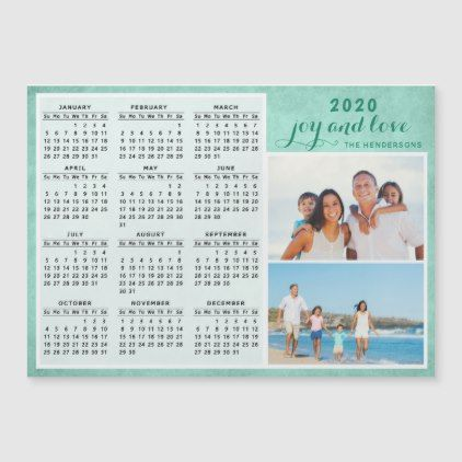 Create Your Own Family Photo 2020 Magnet Calendar Zazzle Com Magnetic Calendar Personalized Family Magnetic Business Cards