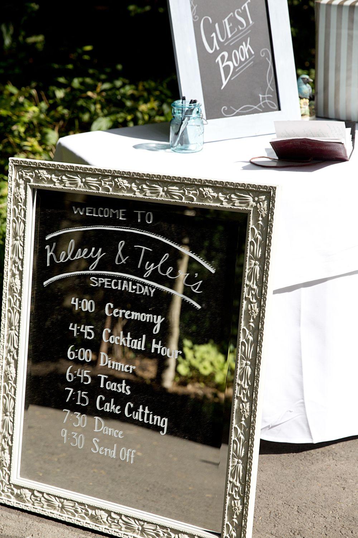 Ty Kelsey Harris Wedding Itinerary Wedding Day Itinerary Wedding Signs Diy
