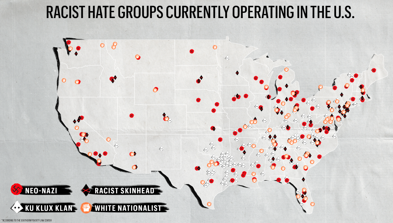 Inside The Lives Of White Supremacist Women To The Womens And - A map of us after white supremcists take over