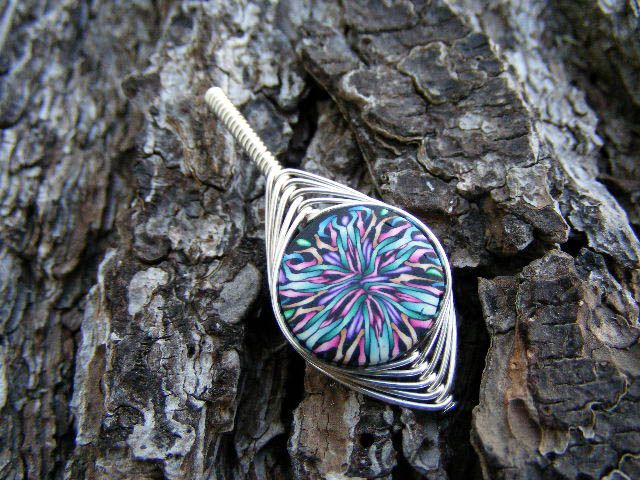Wire Wrap PC Bead Pendant by Create-A-Pendant ... | bead pendant ...