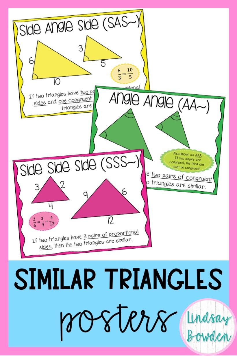 Similar Triangles Posters Geometry Word Wall Geometry Words Math Posters High School High School Math Lessons [ 1230 x 820 Pixel ]