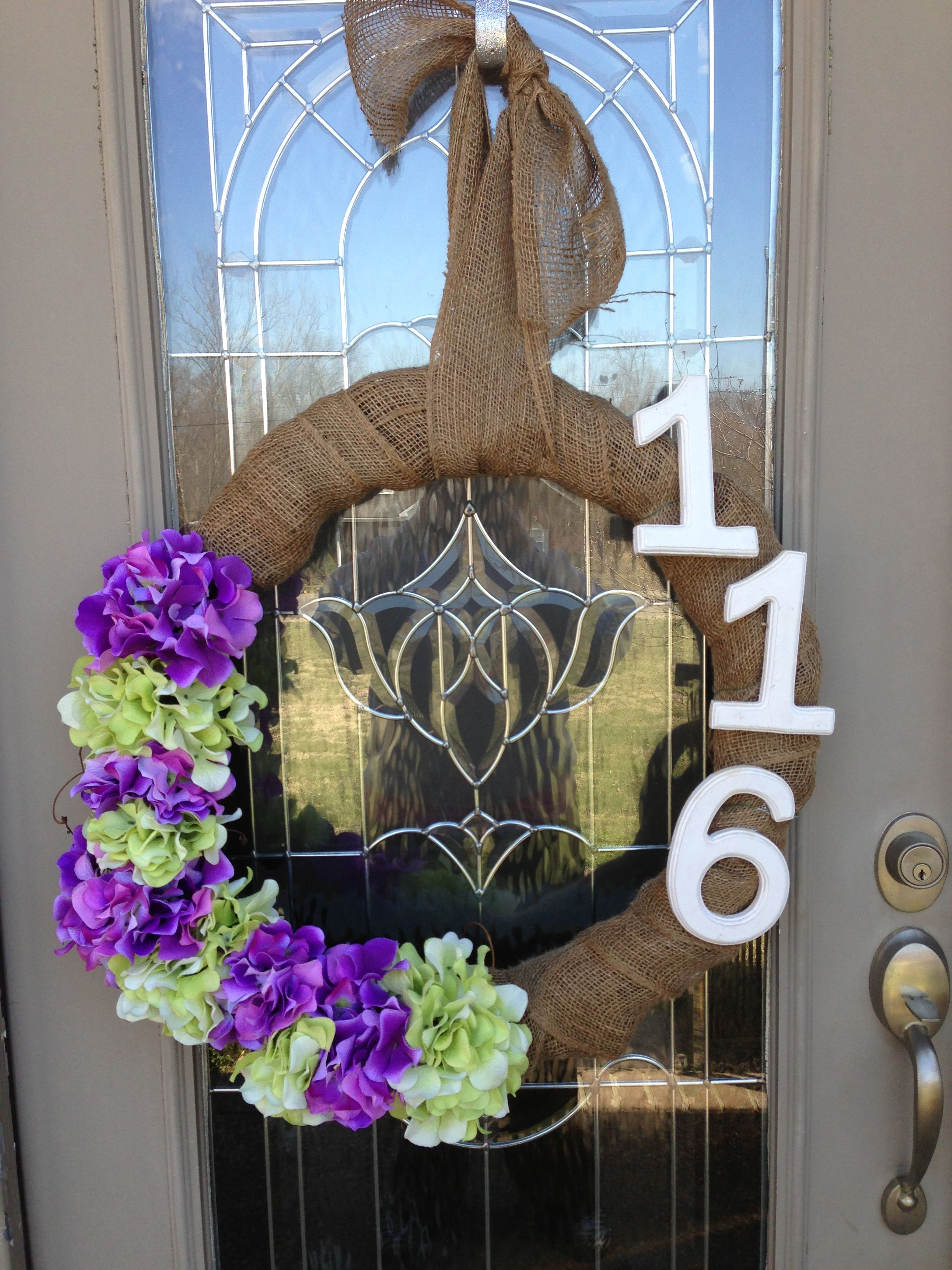 Homemade personalized wreath! Super easy to make one for yourself, approximate cost $30 if you buy the supplies at Joann's without coupons.