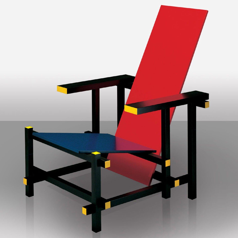 Rood-blauwe stoel - Gerrit Rietveld, 1917.