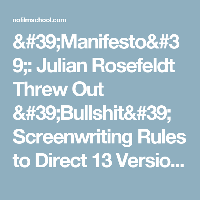 'Manifesto': Julian Rosefeldt Threw Out 'Bullshit' Screenwriting Rules to Direct 13 Versions of Cate Blanchett