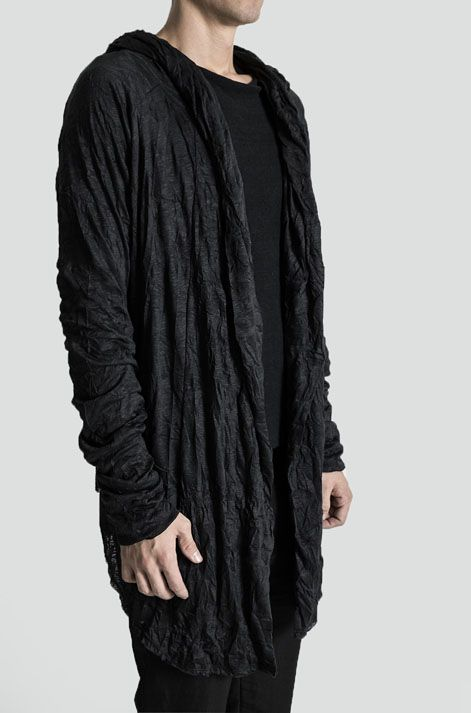 Visions of the Future: MINOAR | Crinkled cotton hooded cardigan ...