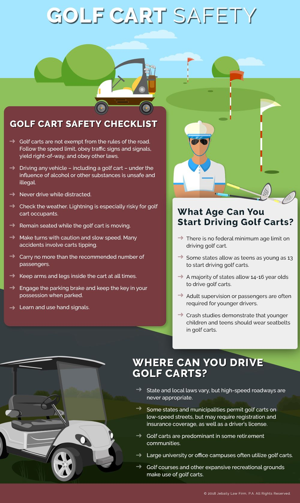 Golf cart safety infographic safety infographic driving