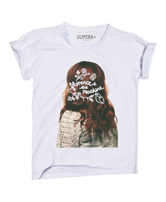 28b186067d Florence The Machine Girl TShirt White Cotton by SuperbBrand | Stuff ...