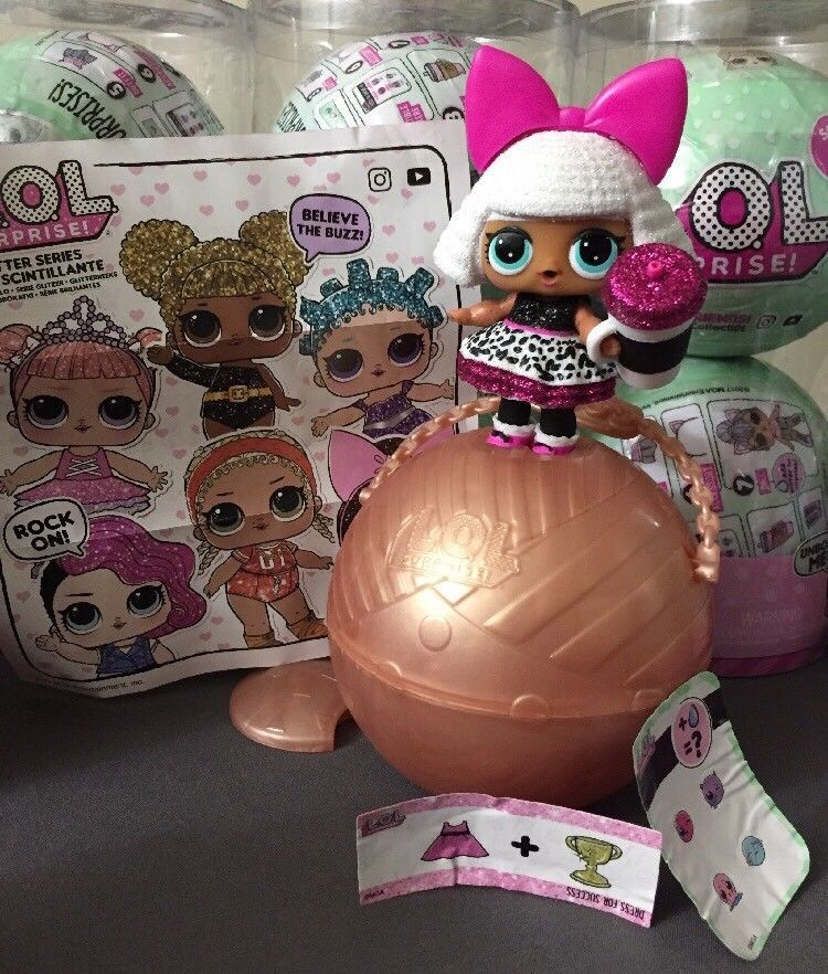 Ships in 1 Business Day! LOL Surprise Glam Glitter Doll  Rare 7 Surprises