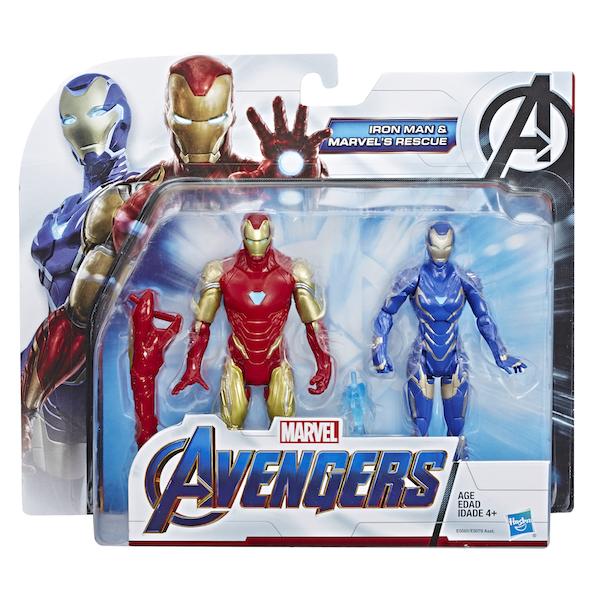Marvel Avengers 7-Inch Action Figures 2-PACK Captain America /& Captain Marvel