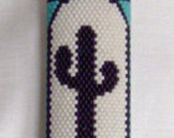 Butterfly Lighter Cover Brick Stitch Bead by StarrDesignStudio