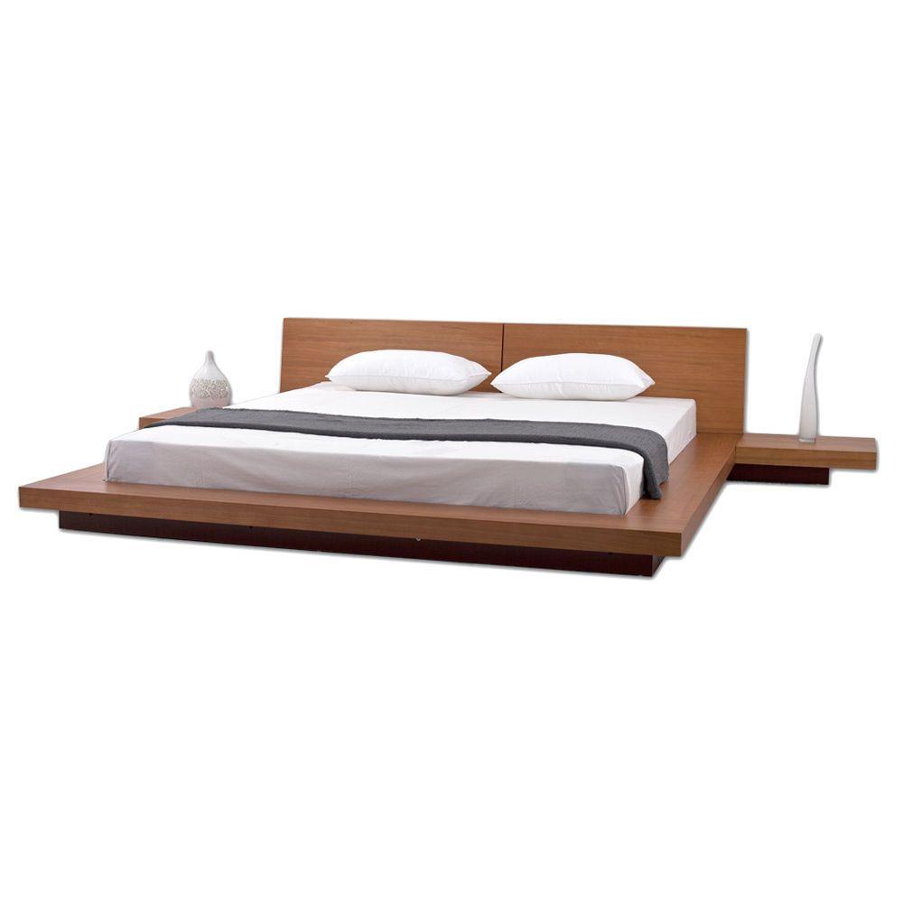 Best Fujian 3 Piece King Size Platform Mid Century Style 640 x 480