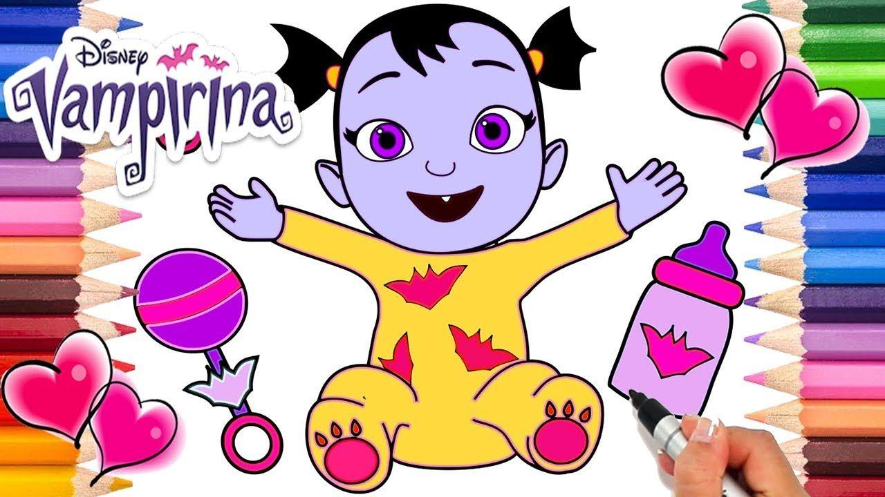 Vampirina Babysitting Coloring Page Vampirina Baby Nosy Coloring