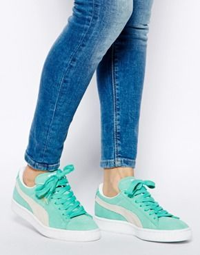 Trendy Women s Sneakers   Puma Suede Classic Green Sneakers ... 2a18d248c4