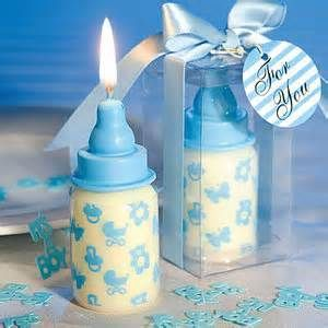 Blue Baby Candle Bottle Favors