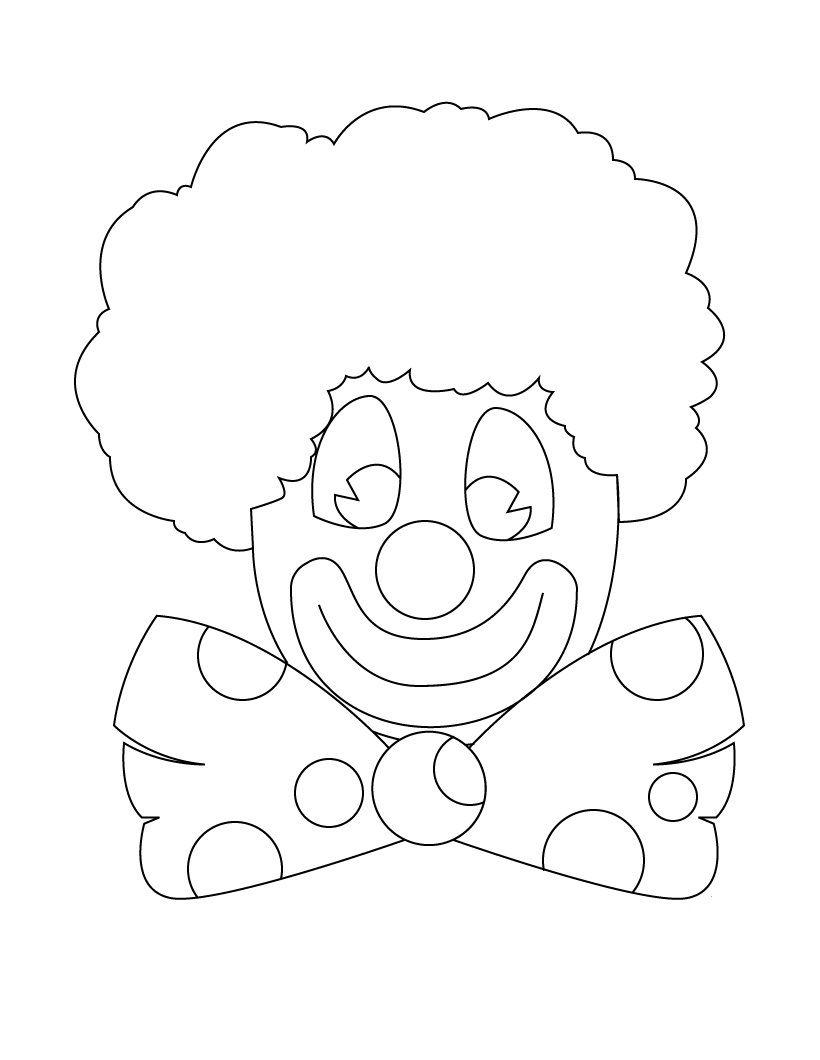 Clown-Coloring-Pages.jpg (820×1060) | school | Pinterest | School