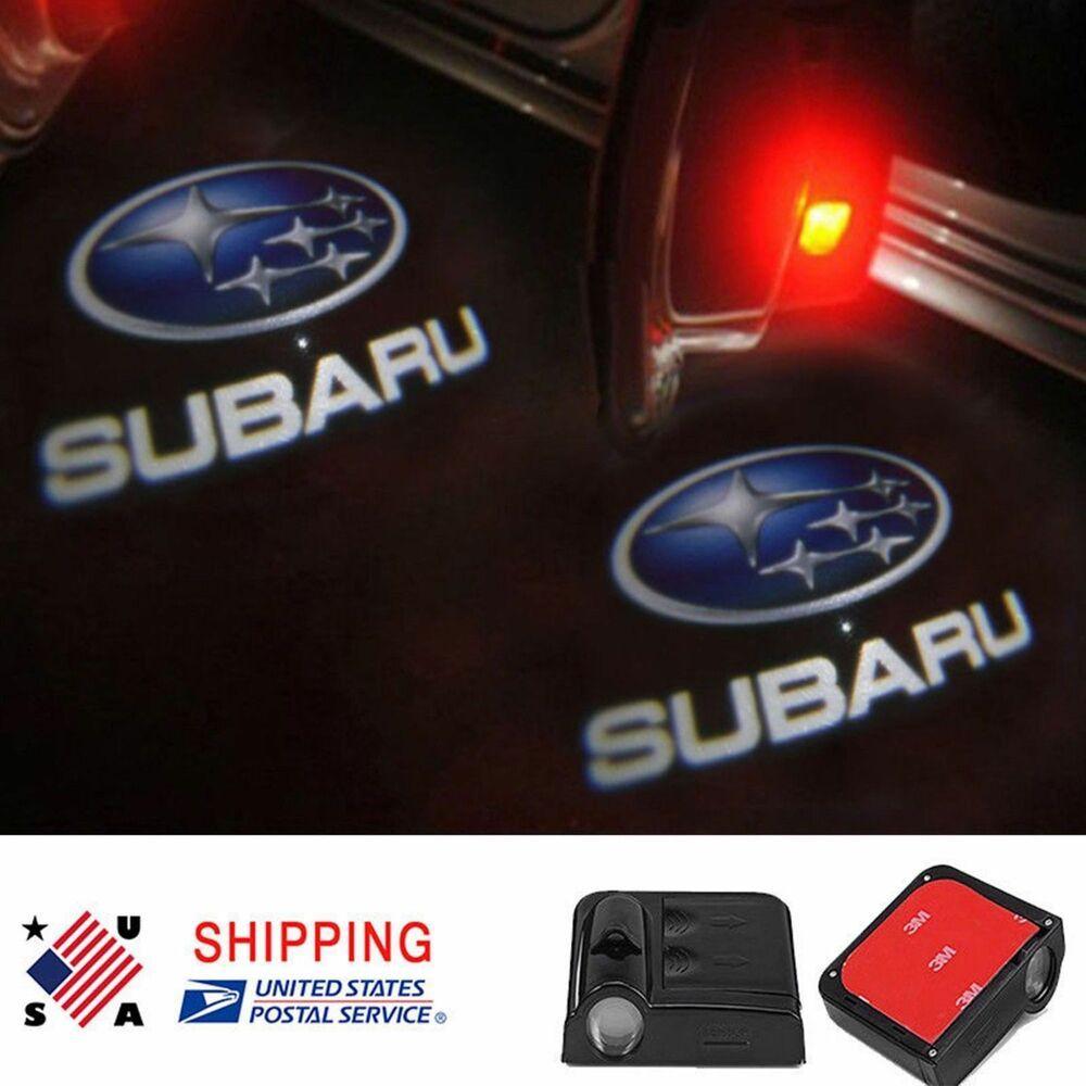2 Pcs Wireless Led Car Logo Door Light Welcome Ghost Lights For Subaru Unbranded Ghost Lights Subaru Car Logos