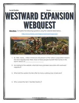 Westward expansion webquest with key missouri compromise westward expansion webquest with key this 6 page document contains a webquest and teachers fandeluxe Gallery