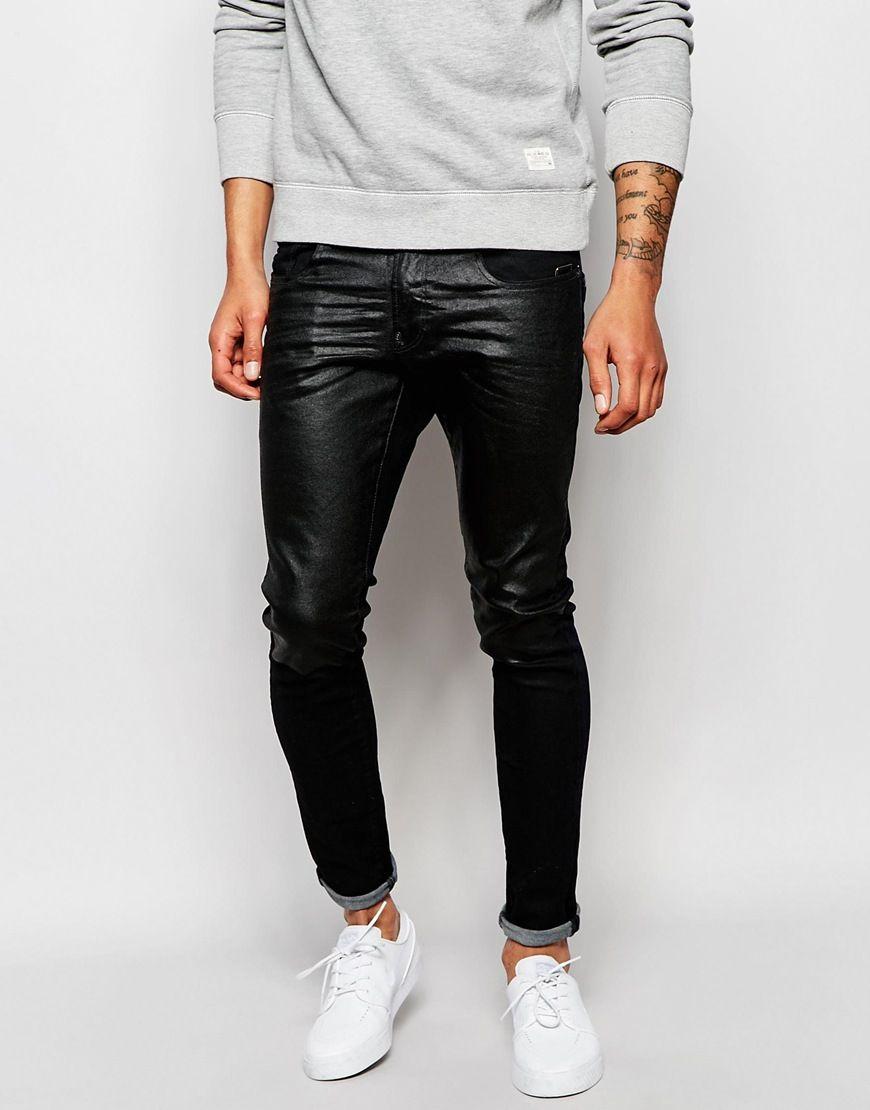 0be8561961f86 Jeans von G-Star Stretch-Denim dunkle Waschung normale Bundhöhe verdeckter  Reißverschluss superenger Schnitt enge Passform Maschinenwäsche 98%  Baumwolle