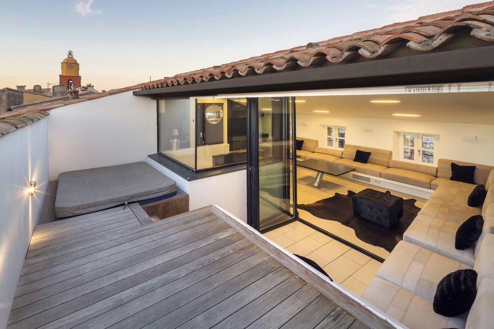r ception de l 39 appartement d2 aujourd 39 hui pinterest tropezienne terrasses et architectes. Black Bedroom Furniture Sets. Home Design Ideas
