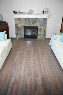 Hardwood Flooring Traditional Red Oak With Classic Grey Stain