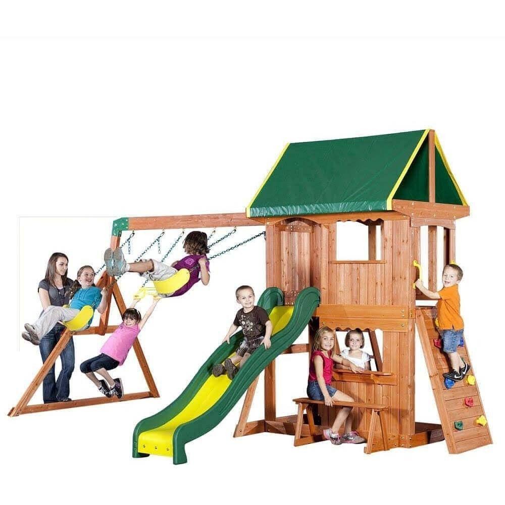 Somerset Wooden Swing Set Cedar swing sets, Wood swing