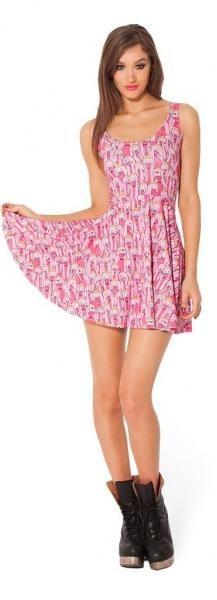 Cheap Black Milk Adventure Time Dress Princess Bubblegum Scoop Skater Black Milk Dress