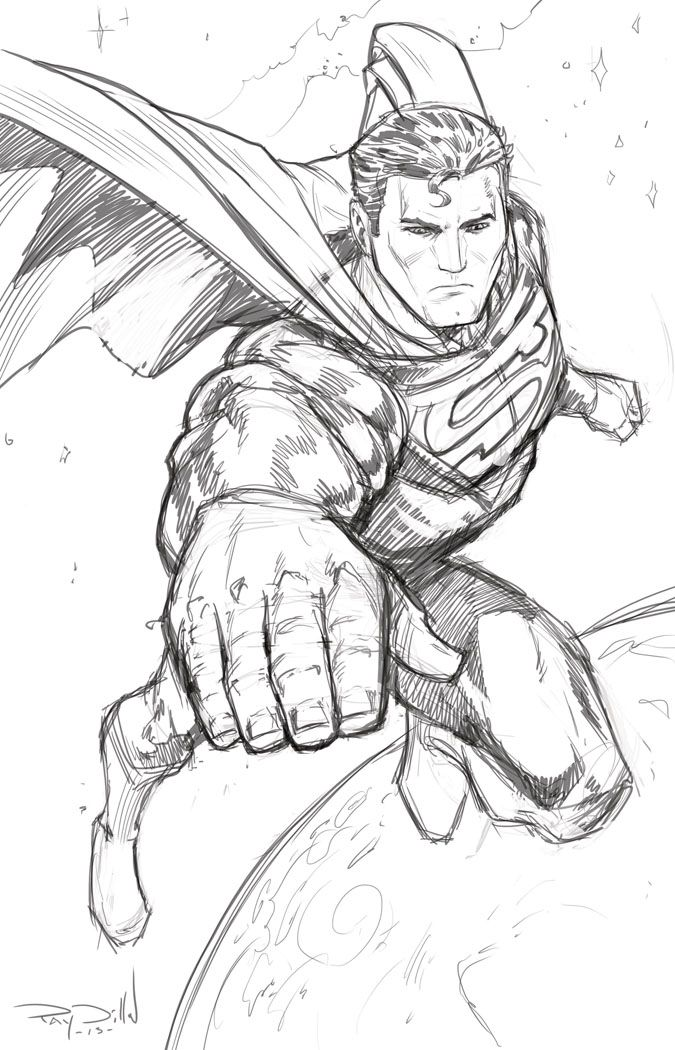 Superman Drawing Coloring Pages