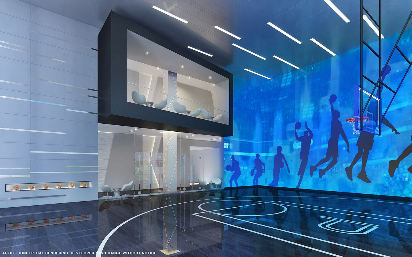 Office Building Basketball Court Paramount Miami Worldcenter Unveils Rooftop Observatory Deck Indoor Basketball Court Home Basketball Court Basketball Room