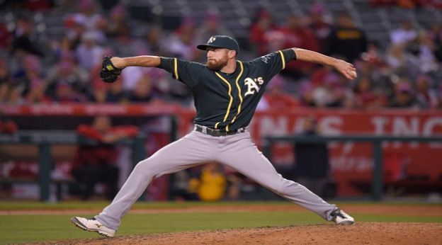 First baseman Ike Davis pitches  perfect inning for A's in loss to Angels - bbstmlb.com