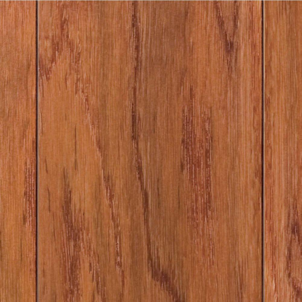 Home Legend Hand Scraped Oak Gunstock 3 8 In T X 4 3 4 In W X Varying Length Click Lock Hardwood Flooring 24 94 Sq Ft Case Hl16h The Home Depot Solid Hardwood