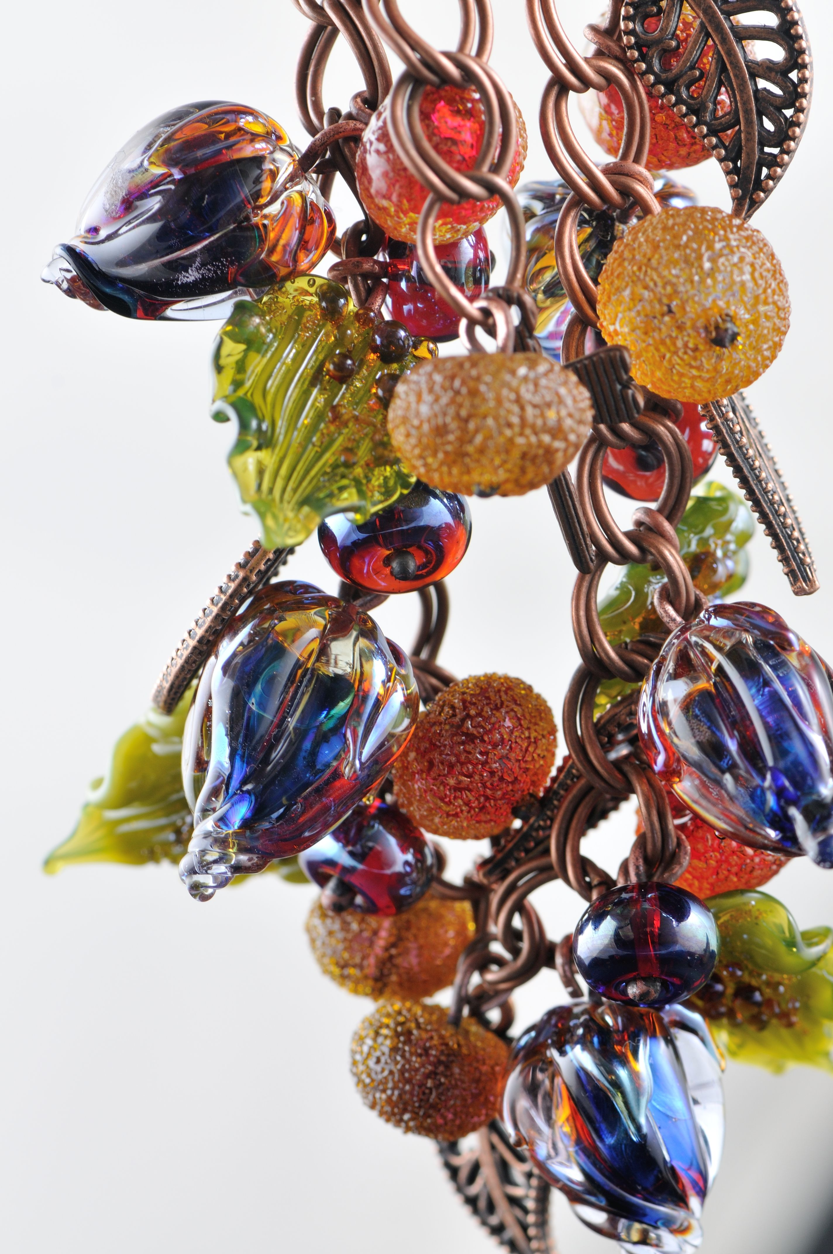 artisan lampwork glass beads bracelet glass in fire lampwork beads